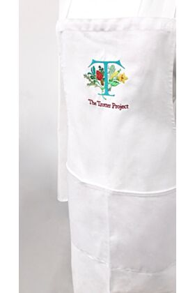 Relief edition white apron - The Trotter project