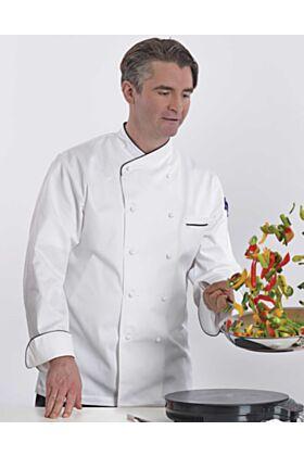 Bragard Jolione Chef Coat - Blue Piping