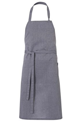 IPERO BIB APRON - HEATHER GREY