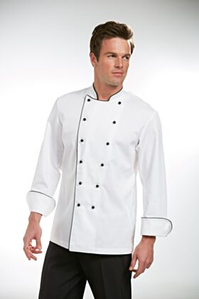 Narvica Chef Jacket With Black Piping