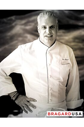 Eric Ripert Chef Jacket - White with Blue Piping