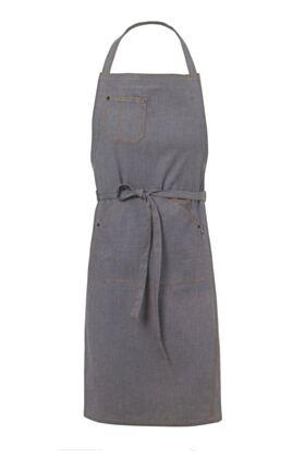 Graff Bib Apron - Denim Steel Blue