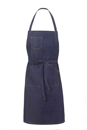 Graff Bib Apron - Denim Blue Jeans