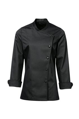 Julia Female Chef Jacket Black