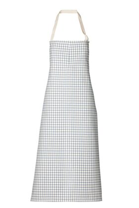 Travail Bib Chef Apron No Pocket - Blue Checks