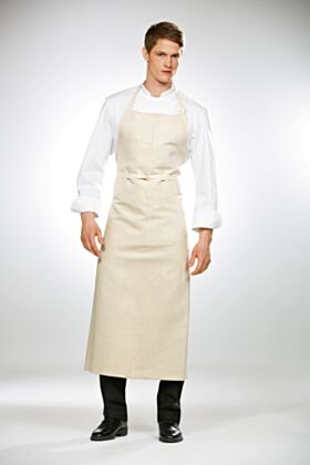 Travail Bib Chef Apron No Pocket - Cream