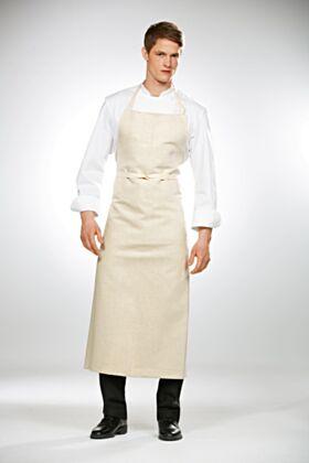 Travail Bib Chef Apron - Cream