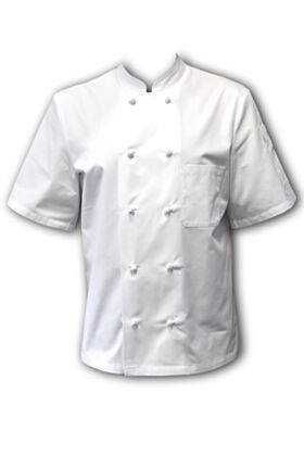 Thomas Chef Jacket - White - Short Sleeves