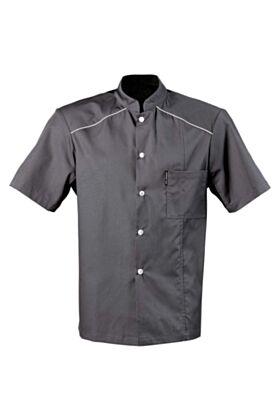 Kansas Chef Jacket - Charcoal Gray