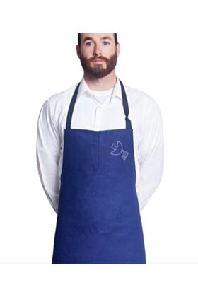 Relief Edition - Embroidered Travail Bib Apron No Pocket