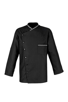 Chicago Chef Jacket - Honeycomb Weave -Black Or White