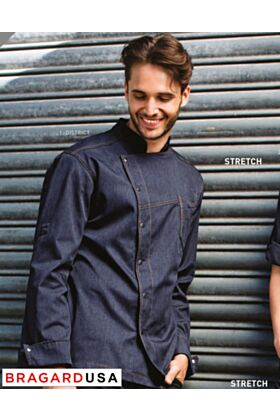 Bragard District Chef Jacket - Blue Denim
