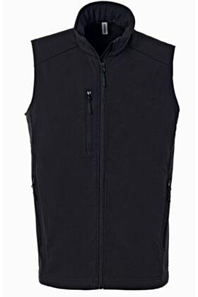 SOFTYM Sleeveless coat - Black