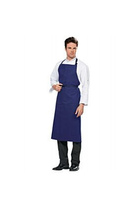 Travail Bib Apron No Pocket - Blue
