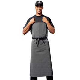 Bragard Travel Bib Chef Apron Pinstriped Black White