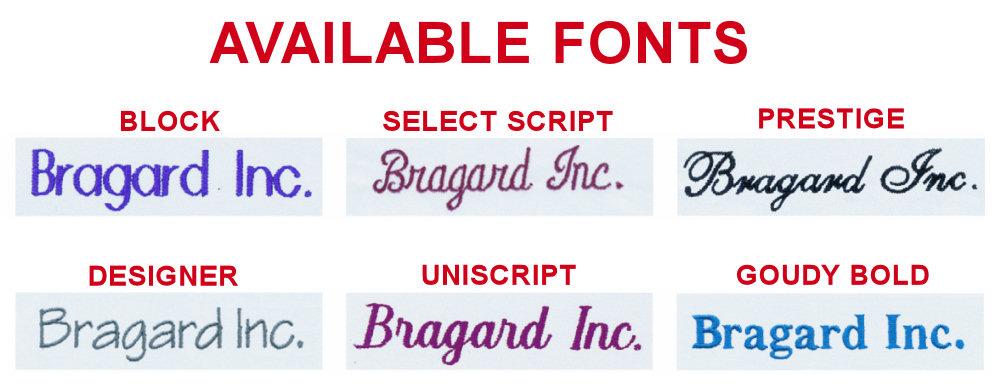 Bragard Font Styles