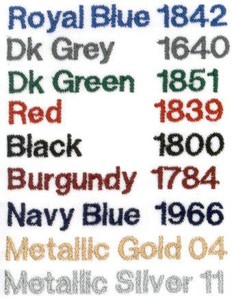 Bragard Font Colors