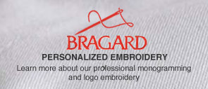 Bragard Personalized Embroidery. Learn more about our professional monogramming and logo embroidery.